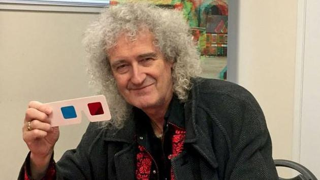 Brian May pondrá en exhibición Queen in 3D